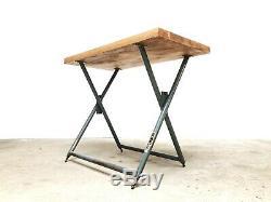 Industrial Bellow Mid Century Heavy Duty Desk Bench Table Vintage