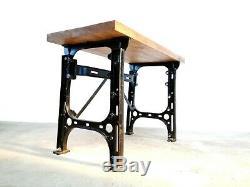 Industrial Mid Century Engineers Heavy Duty Workshop Desk Bench Table Vintage