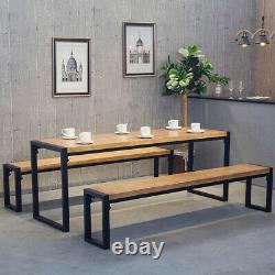 Industrial Square Shape Steel Metal Dining Table/Bench Base Legs Heavy Duty Pair
