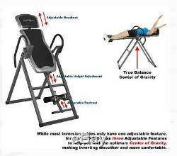 Inversion Therapy Table Heavy Duty Fitness Adjustable Headrest Pad 6-Position