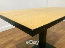 Job Lot 15 Heavy Duty Industrial Style Wooden Bistro Dining Tables Pub Bar Cafe