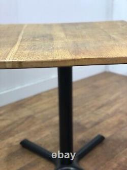 Job Lot 3 Heavy Duty Solid Wood Restaurant Bar Pub Bistro Square Tables 800mm