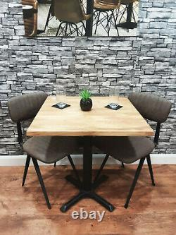Job Lot 3 Heavy Duty Solid Wood Restaurant Pub Bar Bistro Tables 700mm Square