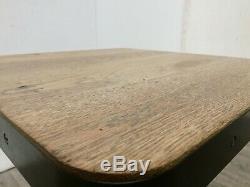Job Lot 4 Heavy Duty Rustic Oak Faced Tables 600mm Square Restaurant Bistro Cafe