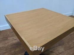 Job Lot 5 Chunky Wooden Heavy Duty Bistro Dining Tables 600mm Square Restaurant