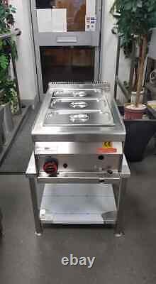 (LPG PROPANE GAS) 3 Pot/Pan Table/Counter-top WET Bain Marie (Heavy Duty)