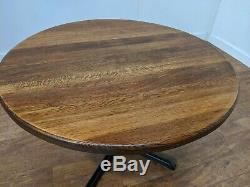 Large Heavy Duty 6 Seat Chunky Wooden Restaurant Dining Table 1200mm Round