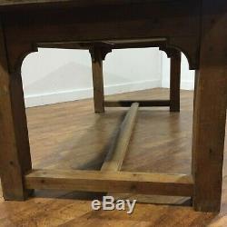 Large Heavy Duty Pine Farmhouse Style Restaurant Dining Table Desk 1860x870mm