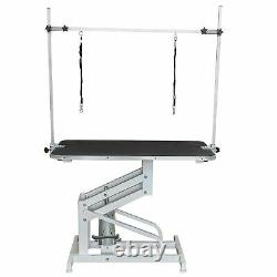 Large Heavy Duty Professional Hydraulic Dog Grooming Table With H Bar Arm Leash