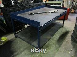 Large Heavy Duty Steel Metal Workshop Workbench Table Garage Mechanic Welding