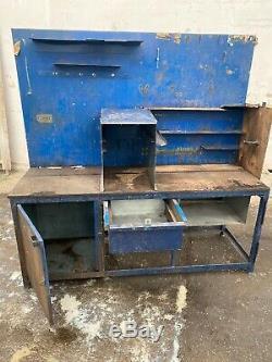 Large Heavy Duty Workshop Steel Workbench Table Garage Mechanic Work Bench