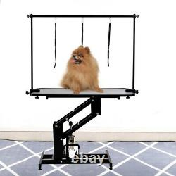 Large Hydraulic Grooming Table Pet Dog Bathing Trimming H Bar Station Heavy Duty