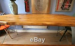 Live Waney Edge dining table with eames unique heavy duty leg design seats six