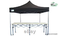 MCD Pro Tent 3m Metre Pop Up Trade Counter Heavy Duty Aluminium Gazebo Table