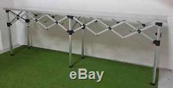 MCD Pro Tent Trade Table 3m Heavy Duty Pop Up Aluminium Top Market