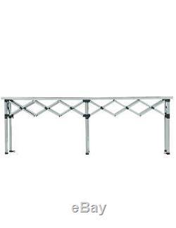 MCD Trade Table Counter 3m Heavy Duty Pop Up Aluminium Top Market Stall