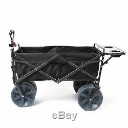 Mac Sports Collapsible Heavy Duty All Terrain Utility Wagon with Table, Black