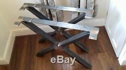 Metal Cross legs 60/40 box section heavy duty ornate designer table bench legs