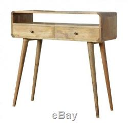 Mid Century Style Solid Wood Console Table With Scandinavian Design Legs