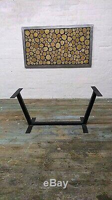 Modern Art 01 INDUSTRIAL HEAVY DUTY METAL TABLE LEG Handmade in UK
