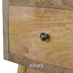 Modern Rustic Hand Crafted Scandinavian Style Solid Wood Bedside Table