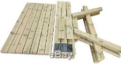 Multi Size Heavy Duty Wooden Picnic Table / Pub Bench / Very Strong & Sturdy