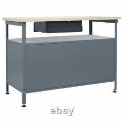 NEW Heavy Duty Steel Metal Workbench Table Work Bench Garage Shed Industrial