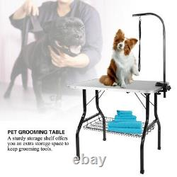 New Foldable Portable 35 Non-Slip Arm Adjust Pet Dog Grooming Bath Table WithTray