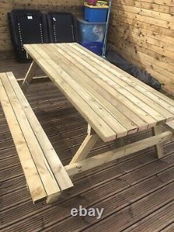 New Heavy Duty 6ft Patio Garden Pub Picnic Table Bench