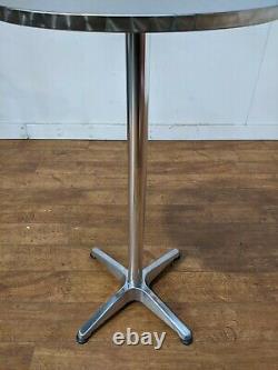 New Heavy Duty Outdoor Aluminium 2 Seat Poseur Table Barstool Set 600mm Round