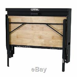 New Lifetime Wall Mounted Work Unique Folding Table Heavy Duty Warehouse No Tax