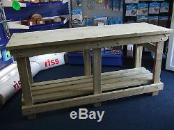 New hand made 4FT, 5FT, 6FT UPTO 10FT solid heavy duty, wooden work bench table