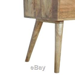 Nordic Scandinavian 4 Drawer Hall Console Table With Mid Century Style Legs