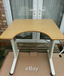 Occupational therapy assessment adjustable table desk for disabled wheel chair
