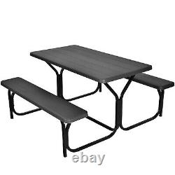 Outdoor Picnic Table and Bench Set Heavy-Duty Garden Furniture Gathering/Party