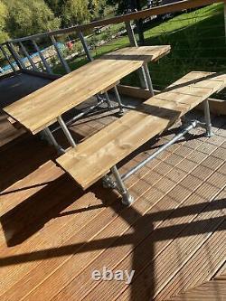 Outside Garden Table, Rustic Scaffold Board Table Heavy Duty