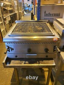 Parry Commercial Heavy Duty 2 Burner Natural Gas Table Top Charcoal Grill