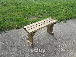 Picnic Bench Hollies Wooden Outdoor Garden Furniture Fence Seating Heavy Duty