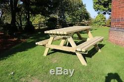 Picnic table, Outdoor patio furniture, top quality, heavy duty, Tanalised