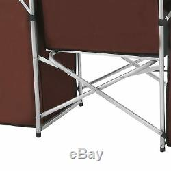 Portable Camping Table Kitchen Stand Cooking Shelves BBQ Grill Folding Enclosed