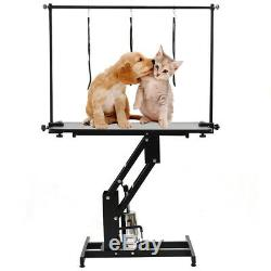 Professional Heavy Duty Hydraulic Dog Grooming Table/Station with H Bar & Arm UK