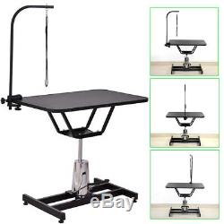 Professional Hydraulic Pet Dog Grooming Table Haircut Swivel Stand + Arm & Leash