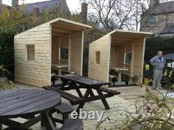 Pub Cabin 6FTx7FT & Heavy Duty Table & Bench Set NO Self Assembly required