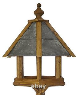 Rosedale Wild Bird Table by Tom Chambers Heavy Duty Wooden Slate Roofed Table