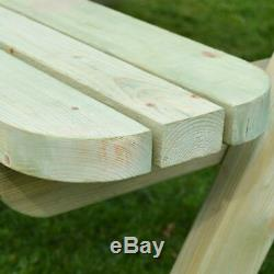 Rounded Outdoor Wooden Heavy Duty Pub Style Picnic Bench 6ft