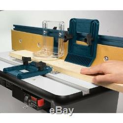 Router Table Cabinet Stand Heavy Duty Bench Top Adjustable Plates Dust Port Bin