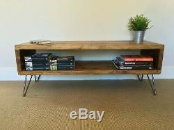 Rustic Dining Table with heavy duty Iron three pin legs