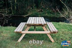 ST Heavy Duty Garden Pub Picnic tables, Wooden Garden bench, Outdoor, Garden
