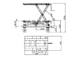 Scissor Lift Table 350KG with Spindle Lifting Trolley Bench Workshop Garage