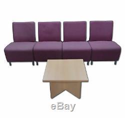 Senator 4 Seat Tulip Modular Reception Seating and Coffee Table £300 + VAT